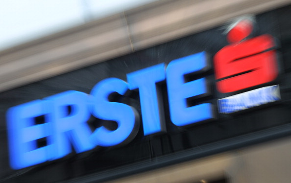 A picture taken on May 3, 2012 shows the logo of Austria's Erste Bank in Vienna. Erste, Austria's biggest listed bank, has a strong presence in eastern Europe.  AFP PHOTO / ALEXANDER KLEIN        (Photo credit should read ALEXANDER KLEIN/AFP/GettyImages)