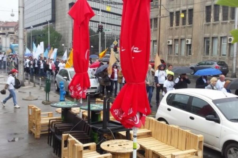 FOTO: Prosvjedna kolona povodom Praznika rada