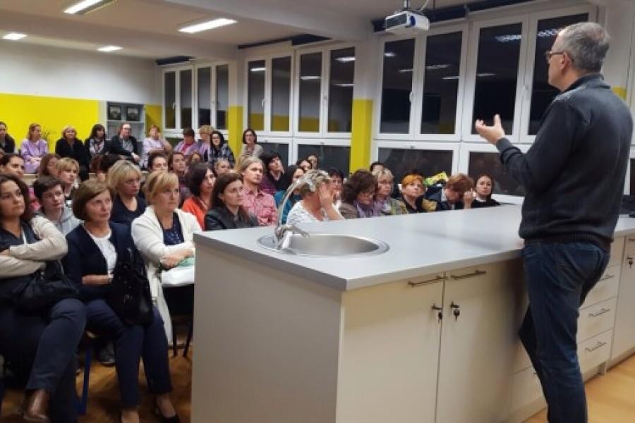 Sindikalni sastanak u O.Š. Eugena Kumičića u Velikoj Gorici