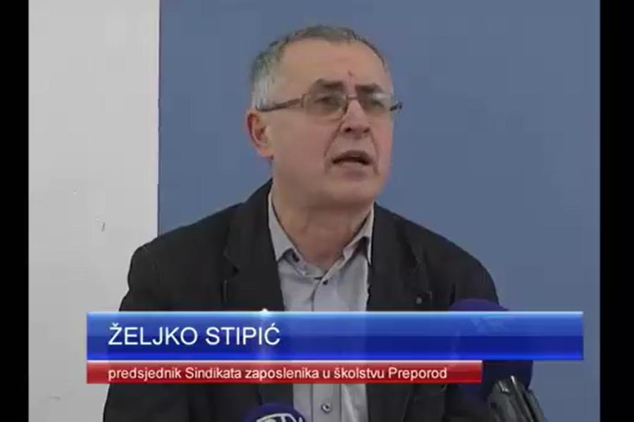 15.02.2017.  Osječka TV, prilog s presice Sindikata Preporod