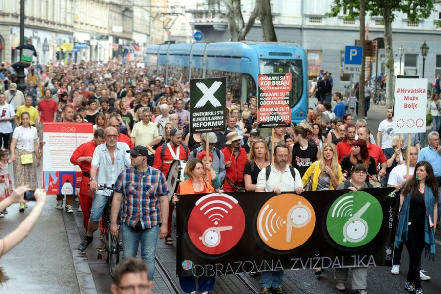 PROSVJED ZA BOLJE OBRAZOVANJE: U Zagrebu prosvjedovalo 20.000 ljudi