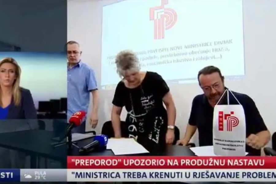 Sindikat Preporod: Tražimo od ministrice da realizira predizborno obećanje HDZ-a
