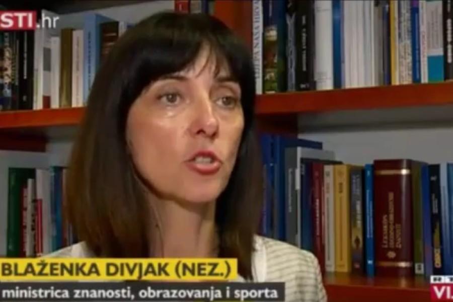 Ministrica Blaženka Divjak komentirala zahtjev Sindikata Preporod