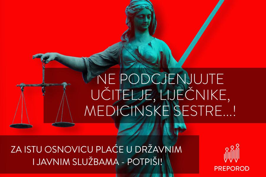 Potpiši peticiju: Ne podcjenjujte učitelje, liječnike, medicinske sestre…