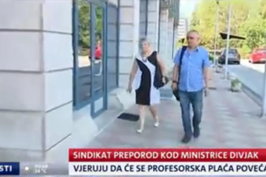 VIDEO: NOVA TV, Dnevnik, prilog o sastanku ministrice i Sindikata Preporod