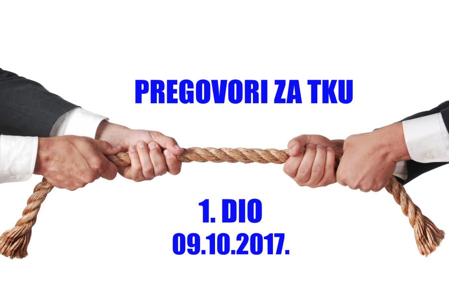 O NIČEMU – NIŠTA! / Izvještaj s 1.  sastanka pregovaračkih odbora /
