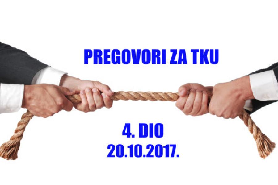 "Pregovori za TKU – sastanak 4. – ""PREGOVORI"" BEZ PREGOVORANJA"