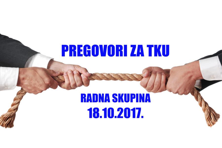 Radna skupina – sastanak zakazan za 18.10.2017. otkazan