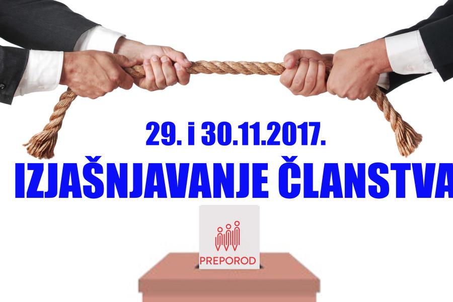 IZJAŠNJAVANJE ČLANSTVA O POTPISIVANJU TKU-a 29. i 30. studenog
