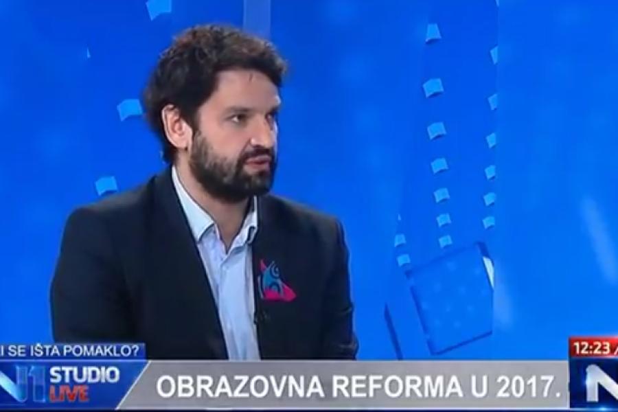 Je li za obrazovnu reformu 2017. godina izgubljena komentira za N1 Boris Jokić