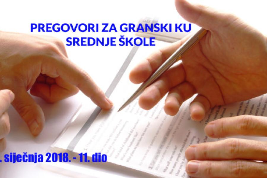 PREKINUTI PREGOVORI: Pregovori za GKU u srednjim školama – 11. sastanak!!!