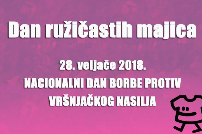 Dan ružičastih majica – Nacionalni dan borbe protiv vršnjačkog nasilja