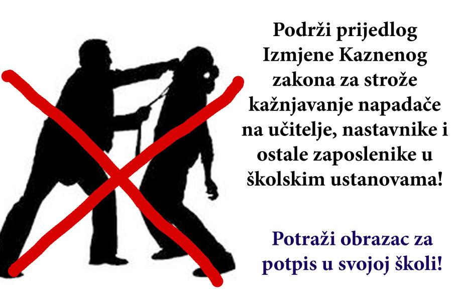 IZJAŠNJAVANJE: Iste kazne za nasilje nad liječnicima i učiteljima