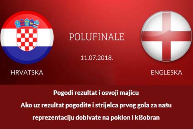 Svjetsko prvenstvo u nogometu: polufinale Hrvatska – Engleska