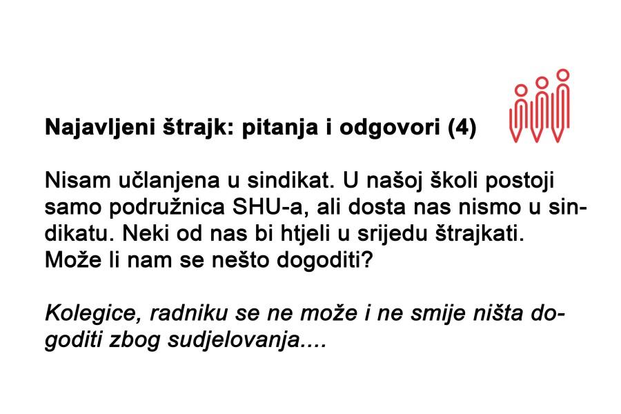 Najavljeni štrajk: pitanja i odgovori (4)