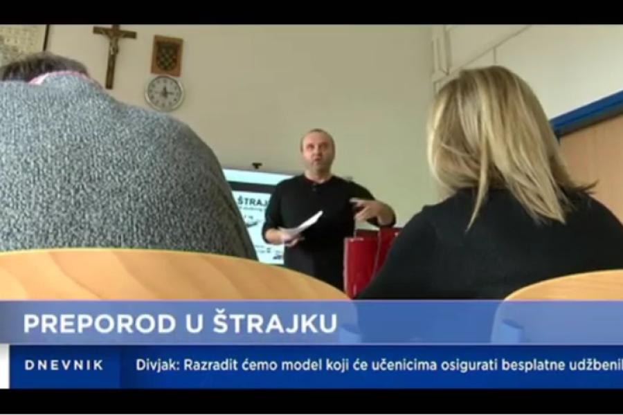 28.11.2018.  HTV Dnevnik, prilog o održanom štrajku