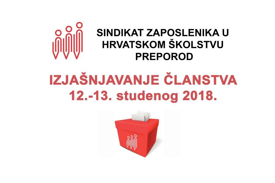 IZJAŠNJAVANJE ČLANSTVA 12. – 13. studenog 2018.