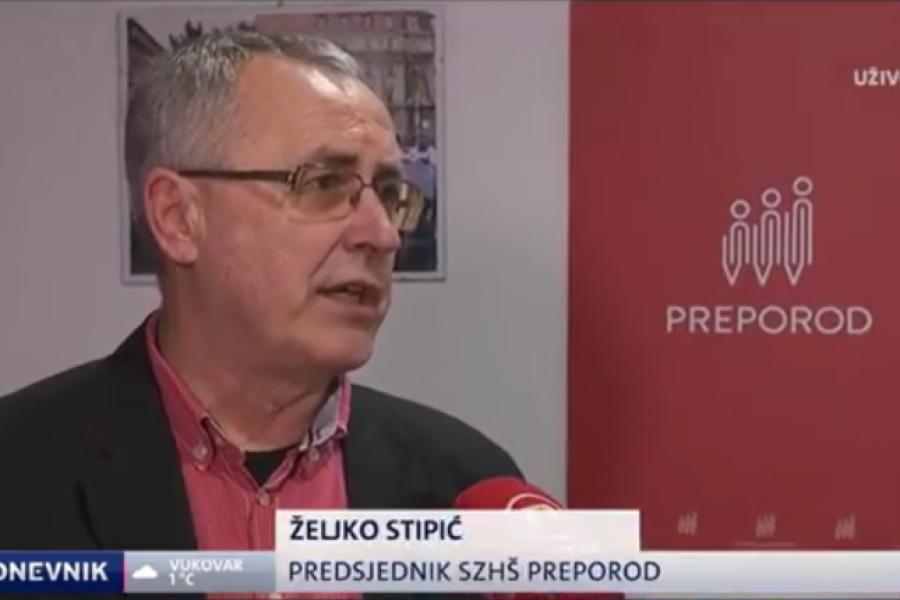 7.11.2018.  NOVA TV Dnevnik, Preporod u srijedu ide u štrajk