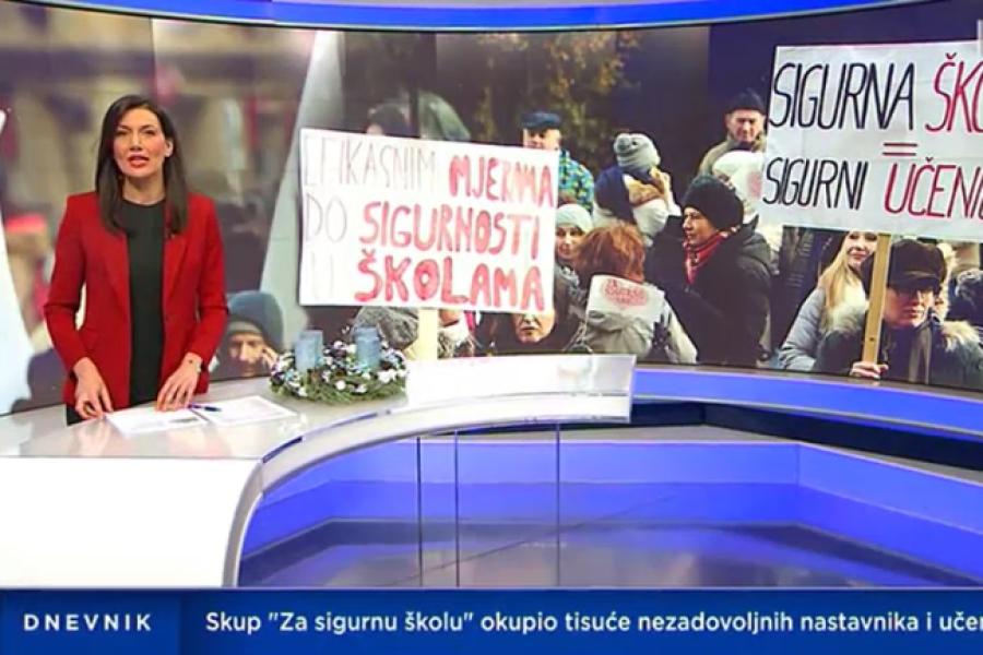 """15.12.2018.  HTV Dnevnik skup """"Za sigurnu školu"""""""