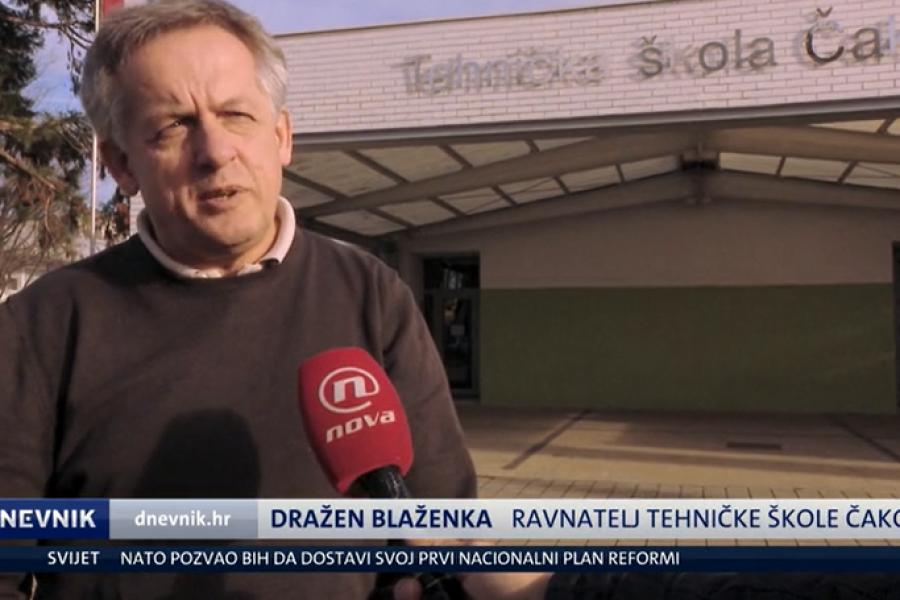 05.12.2018. NOVA TV Dnevnik, fizički sukob profesora i učenika u školi